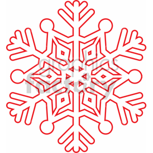 snowflake outline svg cut file clipart. Royalty-free image # 407214