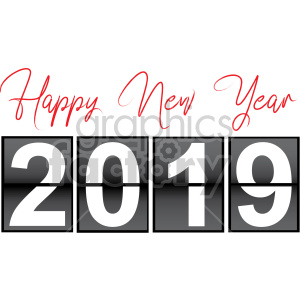 2019 count down clipart. Royalty-free image # 407224