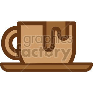 coffee cup vector icon clipart. Commercial use image # 407240