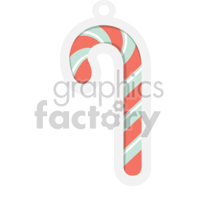candy cane tag clipart clipart. Royalty-free image # 407279