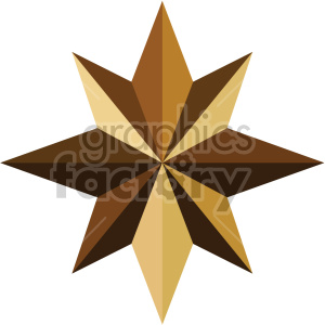christmas north star icon clipart. Royalty-free image # 407311