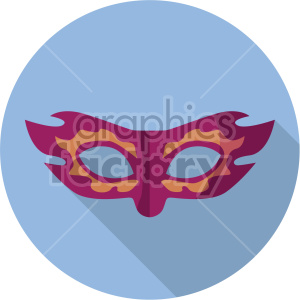 mask on blue circle background clipart. Royalty-free image # 407404