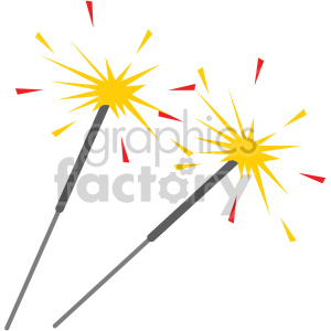 sparklers no background clipart. Royalty-free icon # 407411