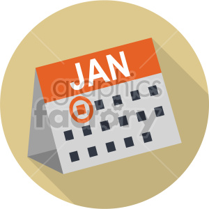 jan 1st on tan circle background clipart. Royalty-free image # 407412