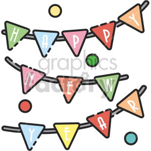 happy new year banner clipart. Commercial use image # 407426