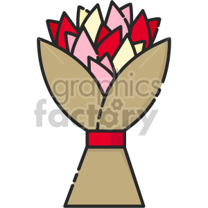 tulip bouquet vector clipart. Commercial use icon # 407479