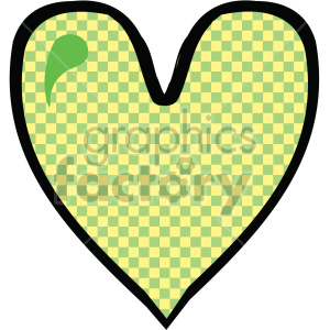 yellow pattern heart clipart. Commercial use image # 407519