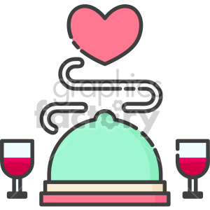 room service dinner tray clipart. Commercial use image # 407562