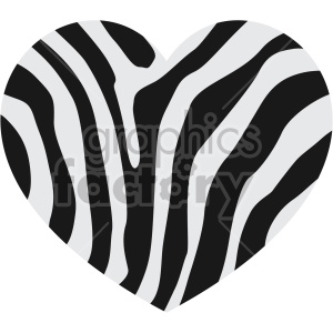 heart with zebra skin no background clipart. Commercial use image # 407626
