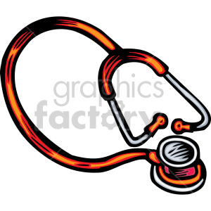 cartoon stethoscope clipart. Royalty-free image # 149487