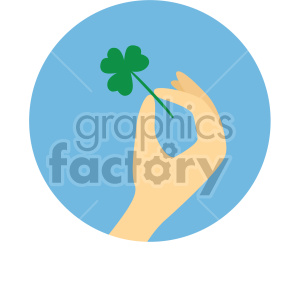 st patricks day shamrock on circle background clipart. Commercial use image # 407656