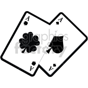 st patricks day playing cards no background