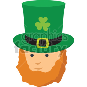 st patricks day leprechaun no background clipart. Commercial use image # 407683