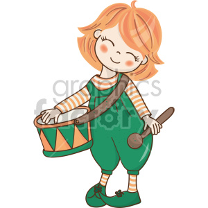st patricks day drummer girl clipart. Commercial use image # 407693