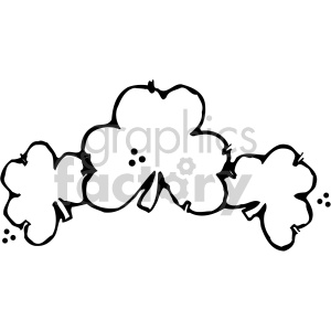 shamrock clovers 005 bw clipart. Royalty-free image # 407731