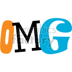 omg text word art clipart. Commercial use image # 407737