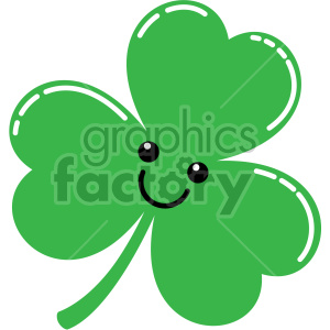 cute shamrock cartoon clipart. Commercial use image # 407749