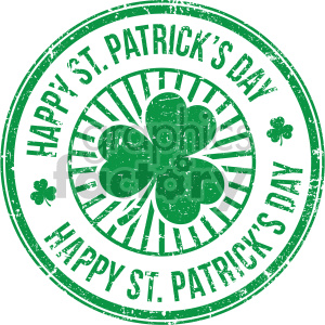 happy st patricks day circle design clipart. Royalty-free image # 407751