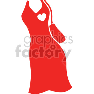 red dress with purse svg cut file clipart. Commercial use image # 407754