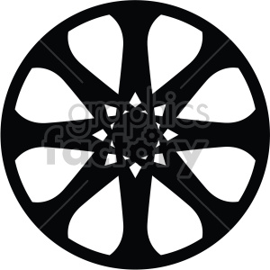 wheel rim eight star clipart. Commercial use image # 407771