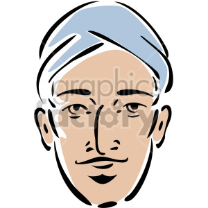 man wearing a turban clipart. Commercial use image # 157295