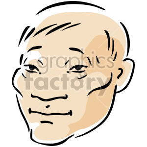 Asian man clipart. Commercial use image # 157387