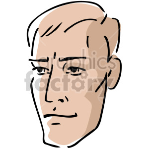young adult male cartoon clipart. Royalty-free image # 157399