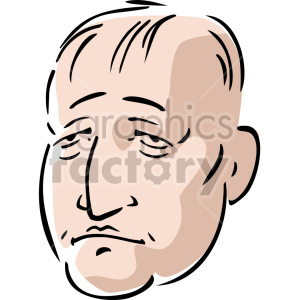 senior man's face clipart. Commercial use image # 157401