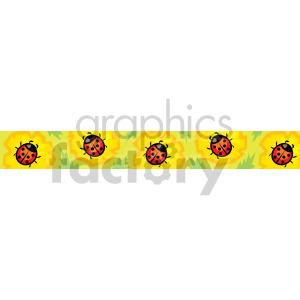 ladybug header clipart. Royalty-free image # 167012