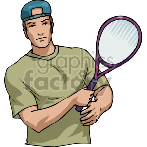 tennis player clipart. Royalty-free image # 170054