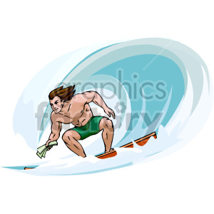 cartoon surfer clipart. Royalty-free image # 154958