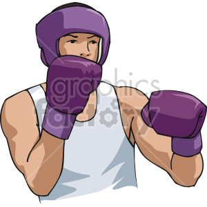 boxer sparing clipart. Royalty-free image # 168753