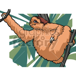 sloth clipart. Commercial use image # 129288