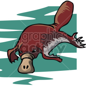 platypus clipart. Commercial use image # 129326