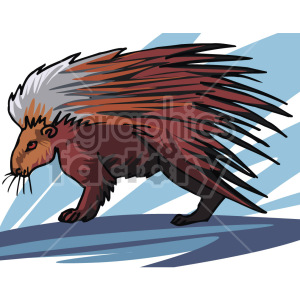 Porcupine clipart. Royalty-free image # 129338