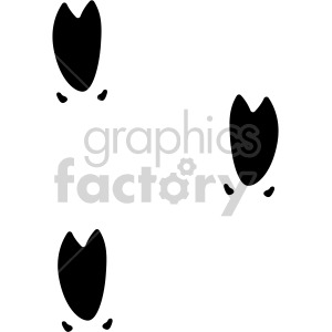 wild pig feet tracks vector clipart. Commercial use image # 407829