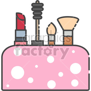 Make up Bag clipart. Royalty-free icon # 407958