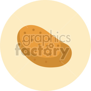 potato on yellow circle background clipart. Commercial use image # 407974