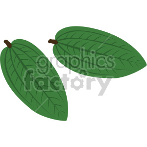 two small leaves clipart. Royalty-free image # 408043
