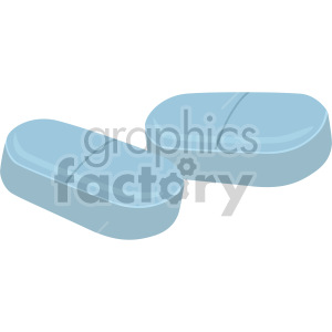 blue pills no background clipart. Commercial use image # 408209