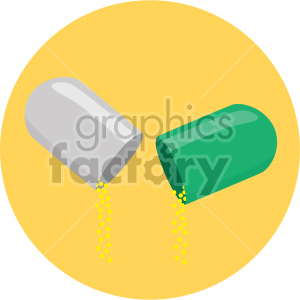 medication capsule yellow background clipart. Commercial use image # 408212