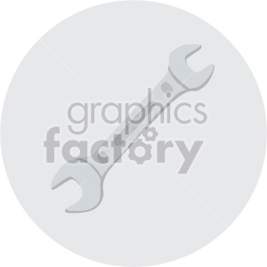 wrench on circle background clipart. Royalty-free image # 408270