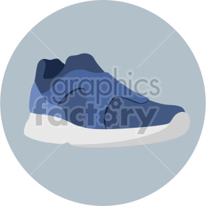 blue sneaker in circle design clipart. Commercial use image # 408346