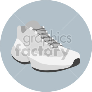 gray running shoe on circle background