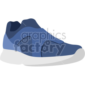 blue sneaker clipart. Commercial use image # 408356