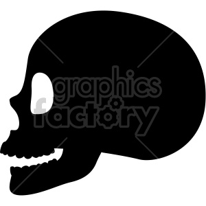 skull profile clipart. Commercial use image # 408361
