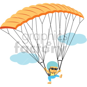 clipart - female parachuting.