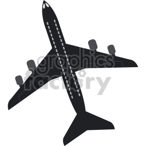 commercial airplane design clipart. Royalty-free image # 408424
