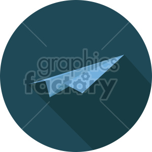 paper airplane on dark circle background icon clipart. Royalty-free image # 408429