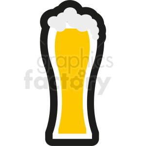 tall glass of beer no background clipart. Royalty-free image # 408454